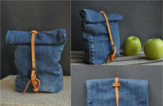 DIY Denim Bags - This DIY Project Involves Using Old Jeans to Create Denim Lunch Bags