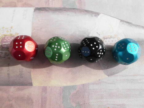 Colorful Multi-Sided Dice