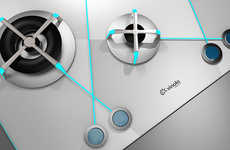 Delineated Culinary Devices - The Eclipse Gas Cooktop Ensures You Don't Confuse Your Kitchen Burners