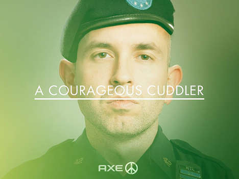Military-Minded Deodorant Ads - The Axe Peace Line of Products Preaches Love Over War