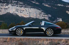 Neo-Retro Convertibles - The Porsche 911 Targa Boasts an Automatic Roof In Place of a Sun Roof