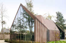 Oxidizing Copper Rooftops - House VDV in Belgium Features a Copper Rooftop that Changes Color