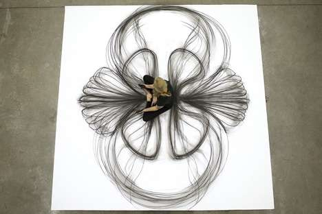 This Performing Artist Creates Drawings Using Her Body