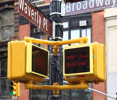 Interactive Robot Street Signs