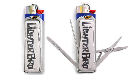 Flammable Switchblade Survival Tools - The LighterBro is a Versatile Survival Unit