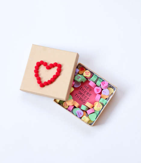 Romantic Candy Box Gifts - This DIY Valentine Candy Box is a Crafty Way to Showcase Your Love