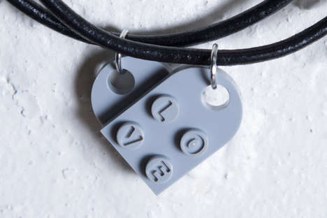 This Lego Valentine Heart Necklace is the Perfect Valentine