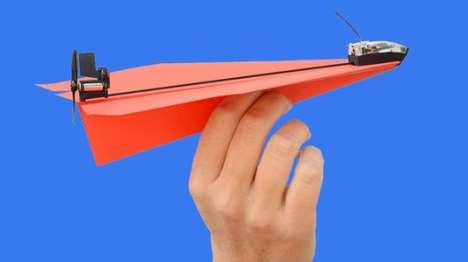 Smartphone-Controlled Paper Planes