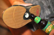 Bottle-Popping Footwear - The Reef Bottle Opener Sandals Will Make Enjoying Beers on the Beach Easy