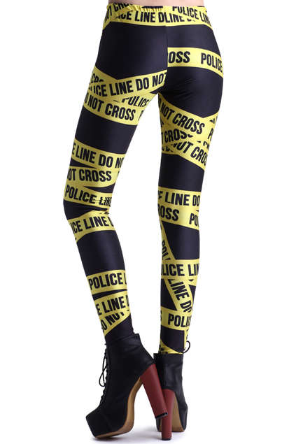 Caution Tape Tights