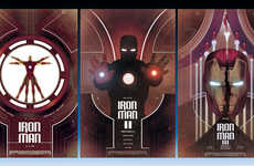 Triple Frame Movie Art - This Iron Man Art Triptych Creatively Re-Imagines the Movie Posters