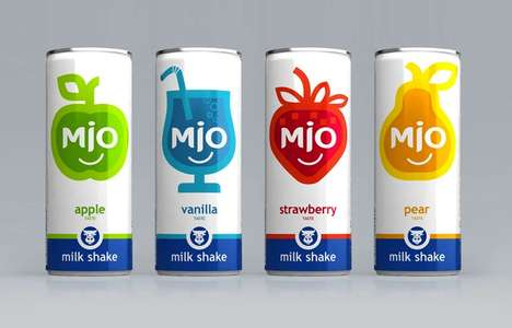 Cute Fruity Cans - MIO Carbonated Milkshake Packaging Vividly Divulges its Flavor