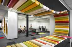 Wildly Abstract Office Designs - The Sherwin-Williams Office in Malaysia is Vibrant and Modern