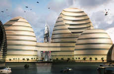 Beehive-Like Landmark Structures - The Organic Cities Building Will Mix Business with Pleasure