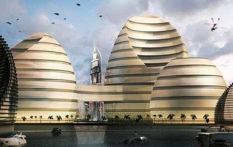 Beehive-Like Landmark Structures