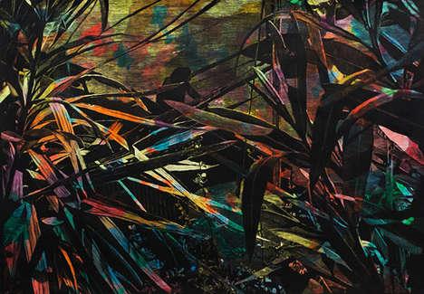Gangster Scene Wax Paintings