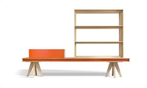 Marvelous Multitasking Movables - Mus by Moya Acts as a Shelf, a Cabinet, a Bench and a Table