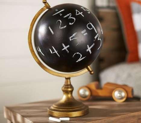 Educational Chalkboard Globes