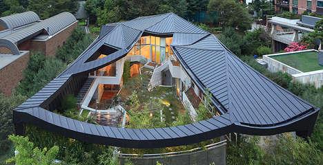 Angular Cantilevered Homes