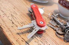 Virtual Tether Tracking Keys - The Swisskey is a Tool Organizer That Syncs with Your Smartphone