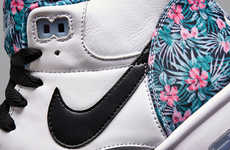 Pro Bowl-Inspired Footwear - These Floral Print NIKE Air Trainer 1's are Pro Bowl Themed