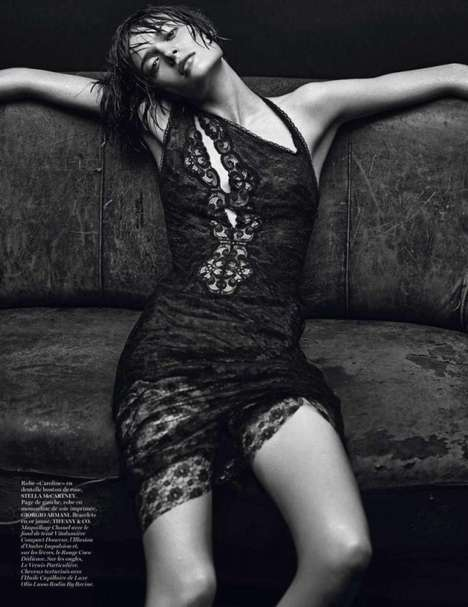 This Sheer Fashion Editorial for Vogue was Shot by Mario Sorrenti