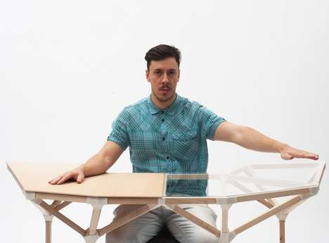 Digitally Customized Desks - The Ergonomically Optimized Workspace Uses Kinect 3D Scanner to Create