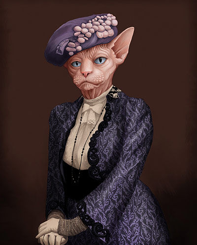 30 Fancy Feline Illustrations