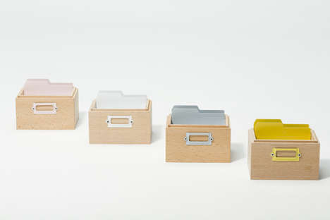 Minimalist Stationery Storage - The Tsumugi Card Box by Ideaco are Charmingly Vintage-Like