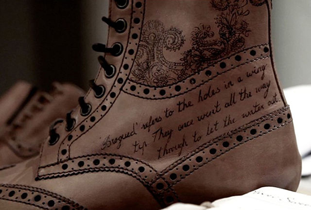 Hipster Tattooed Leather Footwear