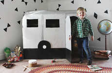 Crafty Kid Campers - This DIY Cardboard Camper Playhouse Allows Children to Act Like Adults