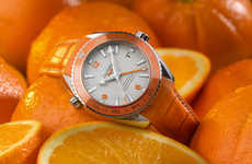 Vibrant Fruit-Inspired Timepieces - The Planet Ocean Orange Watch Features All Style Vitamins
