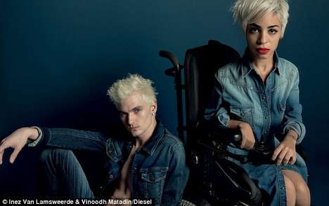 Wheelchair-Bound Model Fashion Ads