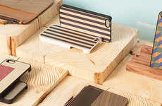 Woodwork Tech Accessories - The Wood'd Studio Designs Artisan Products for Smartphones and More