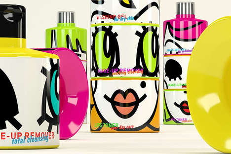 Mix-and-Match Facial Merchandizing - Twister Sisters Packaging Invites Cosmetics Set Customization
