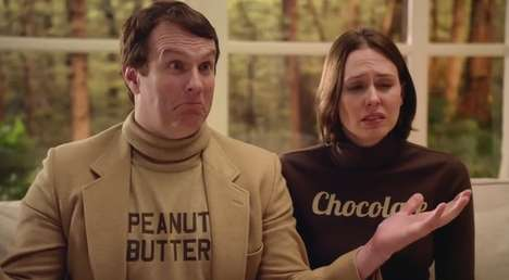 Personified Candy Counselling Ads - Butterfinger Peanut Butter Cups' Ad Unifies a Solid Couple