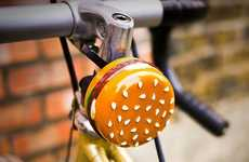 Burger Bike Bells - This Cute and Useful Bicycle Bell is Shaped Like a Classic Burger