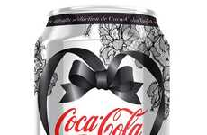 Seductive Soda-Packaging Makeovers - Chantal Thomas Gives Diet Coca-Cola a Steamy Valentine's