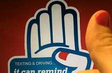 Nail-Painting Awareness Projects - The Red Thumb Reminder Halts Texting & Driving with a Finger