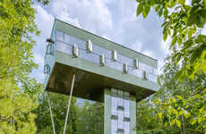 Elevated Eco Homes - GLUCK+'s Tower House Residence Treads Lightly on the Land