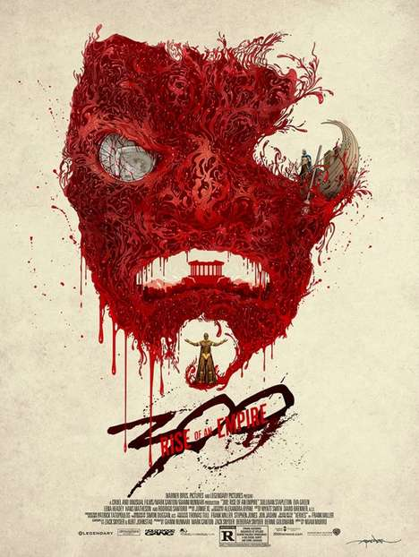 Blood-Illustrated Movie Posters
