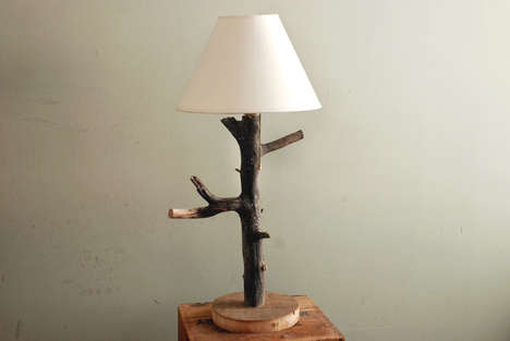 Rustic Branch Illuminators - This DIY Branch Table Lamp is Perfect for Those Who Love the Outdoors