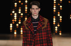 Debonair Punk Menswear - Outfits from the Saint Laurent Fall Collection Add Sophistication to Punk