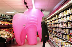 Inflatable Elephant Photography - Jean-Baptiste Courtier is Behind The Elephant Rose Photo Series