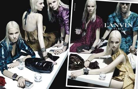 Mod Mannequin Campaigns - Steven Meisel's Lanvin Ad is Stunning in Bleach Blonde