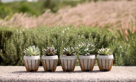 Concrete Wood Planters