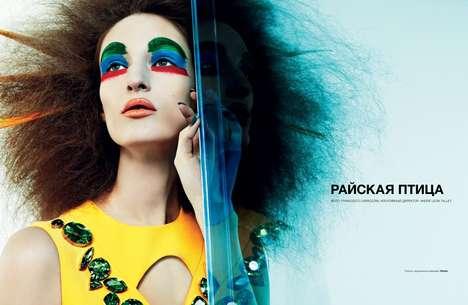 Chromatic Couture Clown Editorials