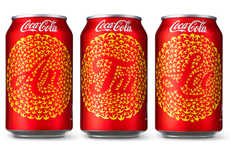 Celebratory Aerial Soda Branding - Soft Drink Cans Get a Makeover for the Tet 2014 Festivities