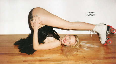 Risque Roller Skate Photography - This Lui Magazine Shoot is Fun and Flirty