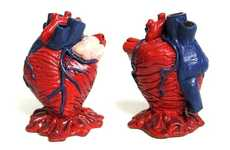 Anatomically Correct Pencil Holders - This Lifelike Heart's Valves Double as a Pencil Holder